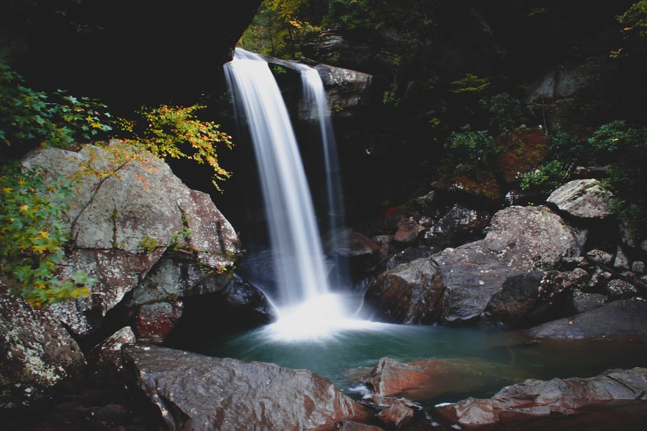 One of the many waterfalls that can be seen at Cumberland Falls State Resort Park in Corbin Kentu...