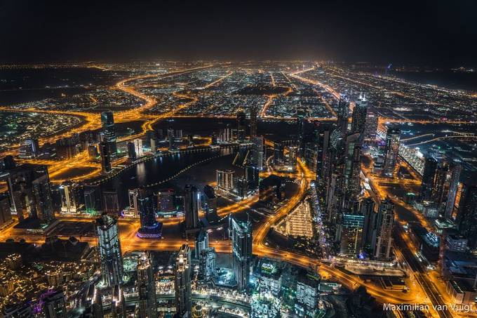 Dubai-Night-2018 by MaximilianvanVuigt - Bright City Lights Photo Contest
