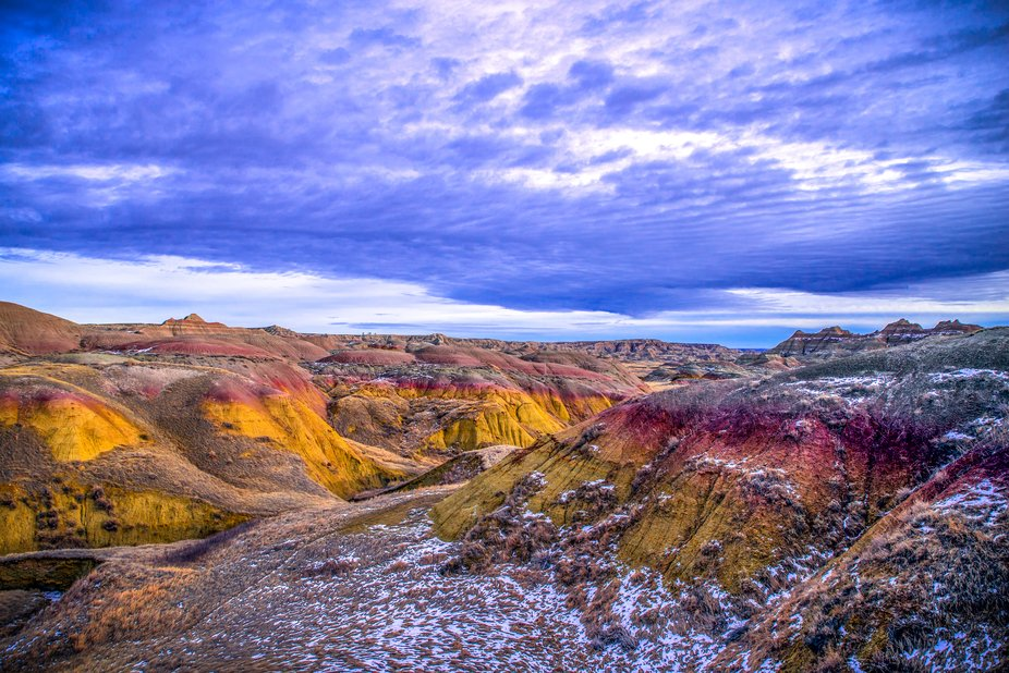 The Badlands with A Colorful Twist
