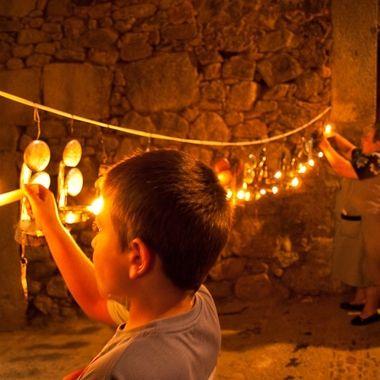 Miranda del Castañar (Salamanca.Spain).Romeria de los candiles cada 07 de Setiembre.Se iluminan con viejos candiles de aceite el paso de la Romeria.