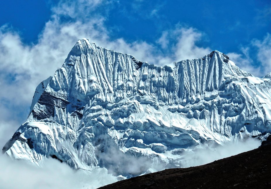 As seen from Pangboche, Nepal.