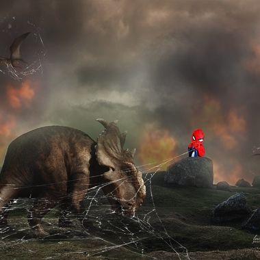 Spiderman vs Dinosaurs