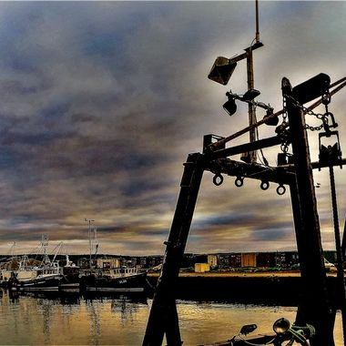 Tied up at Burghead Harbour