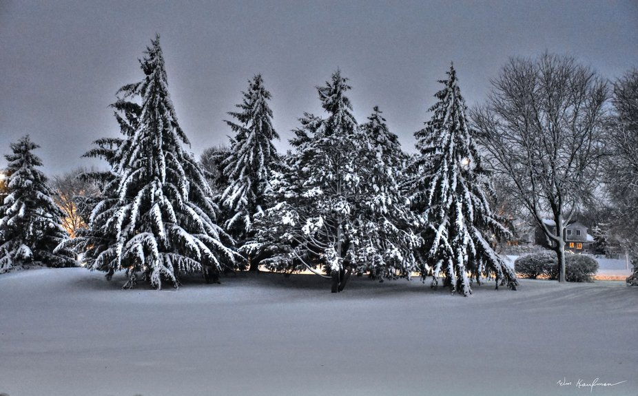 We had a big snow storm last night. Nothing I would want to be driving in. But the next day turne...