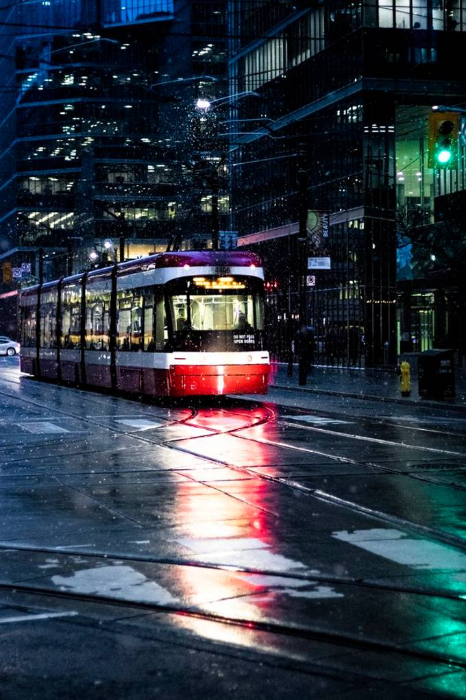 Went out exploring downtown Toronto while some fresh flurries were coming down and it made for a moody atmosphere. So braved the cold and managed to capture some images.