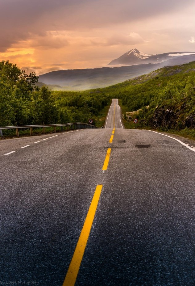 Road To Norway by sakulappi - Straight Roads Photo Contest