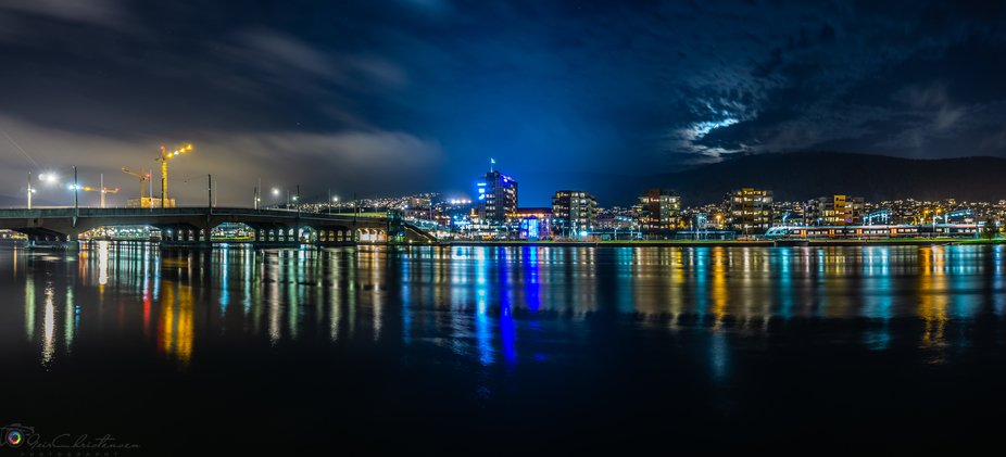 A night photography from Drammen, Norway