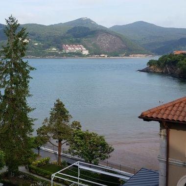 Bay in Mundaka, Basque Country, Spain