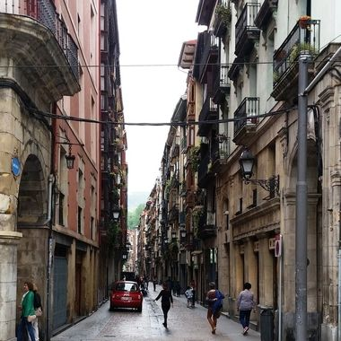 The heart of old town Bilbao, Spain