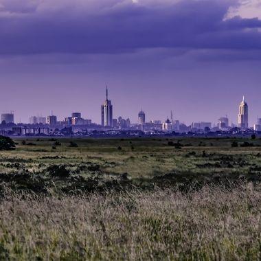 Nairobi from Nairobi Game Park