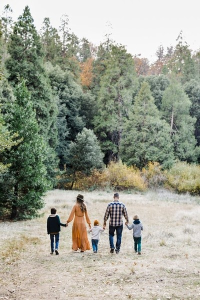 Family in the Pines