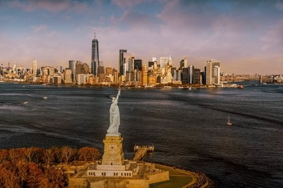 Statue of Liberty From Chopper