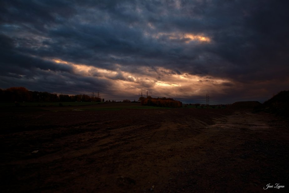 Dramatic sunset somewhere in Bochum