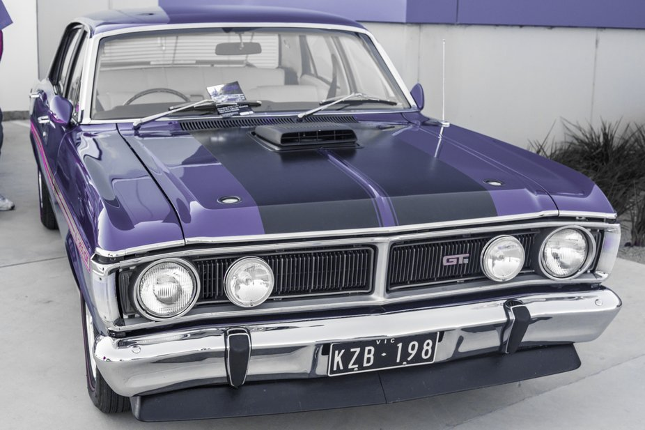 70s XY Phase III Ford Falcon GT in Purple