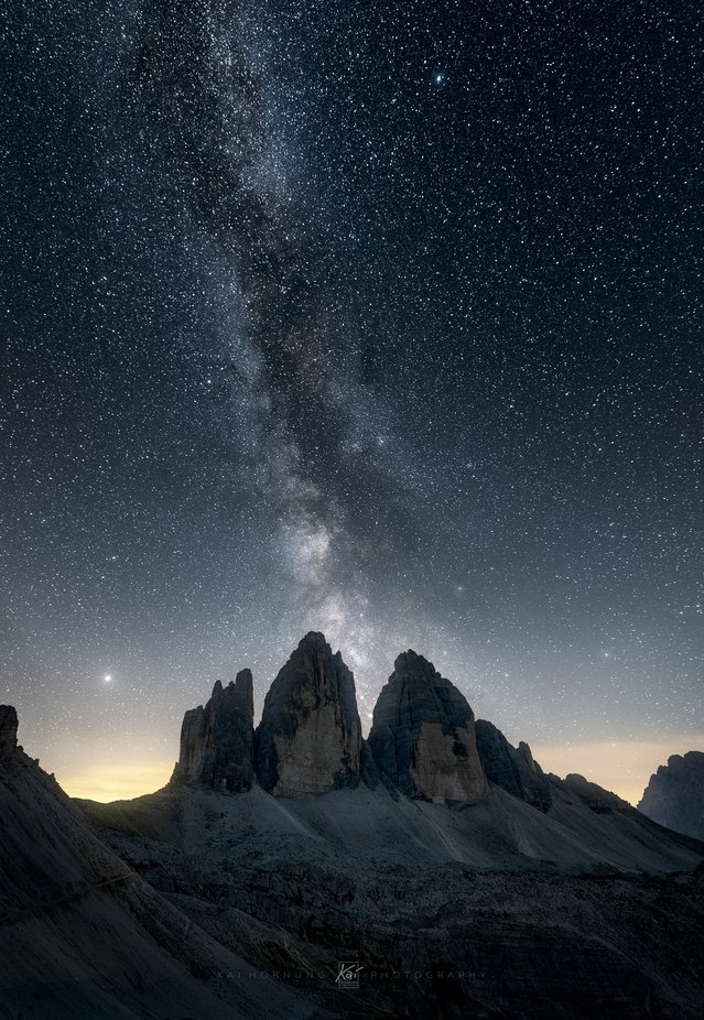 Tre Cime milky way by kaihornung - Capture The Milky Way Photo Contest