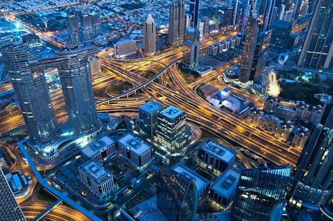 Early morning Dubai streets by LuaGrace - Bright City Lights Photo Contest