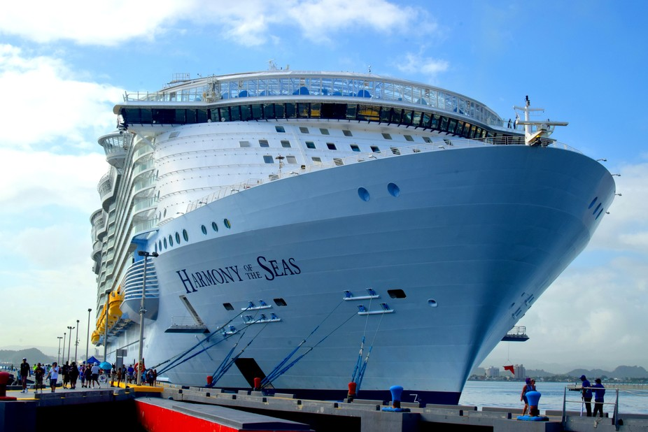 Harmony of the Seas docked at San Juan Puerto Rico