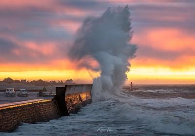 Storm at sunrise