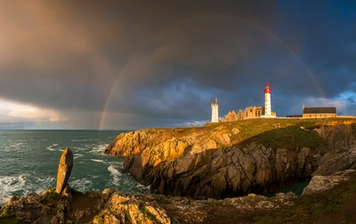 Rainbow in Pointe Saint-Mathieu