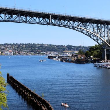 Aurora Bridge and Lake Union