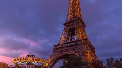 Paris Eiffel Tower Pano