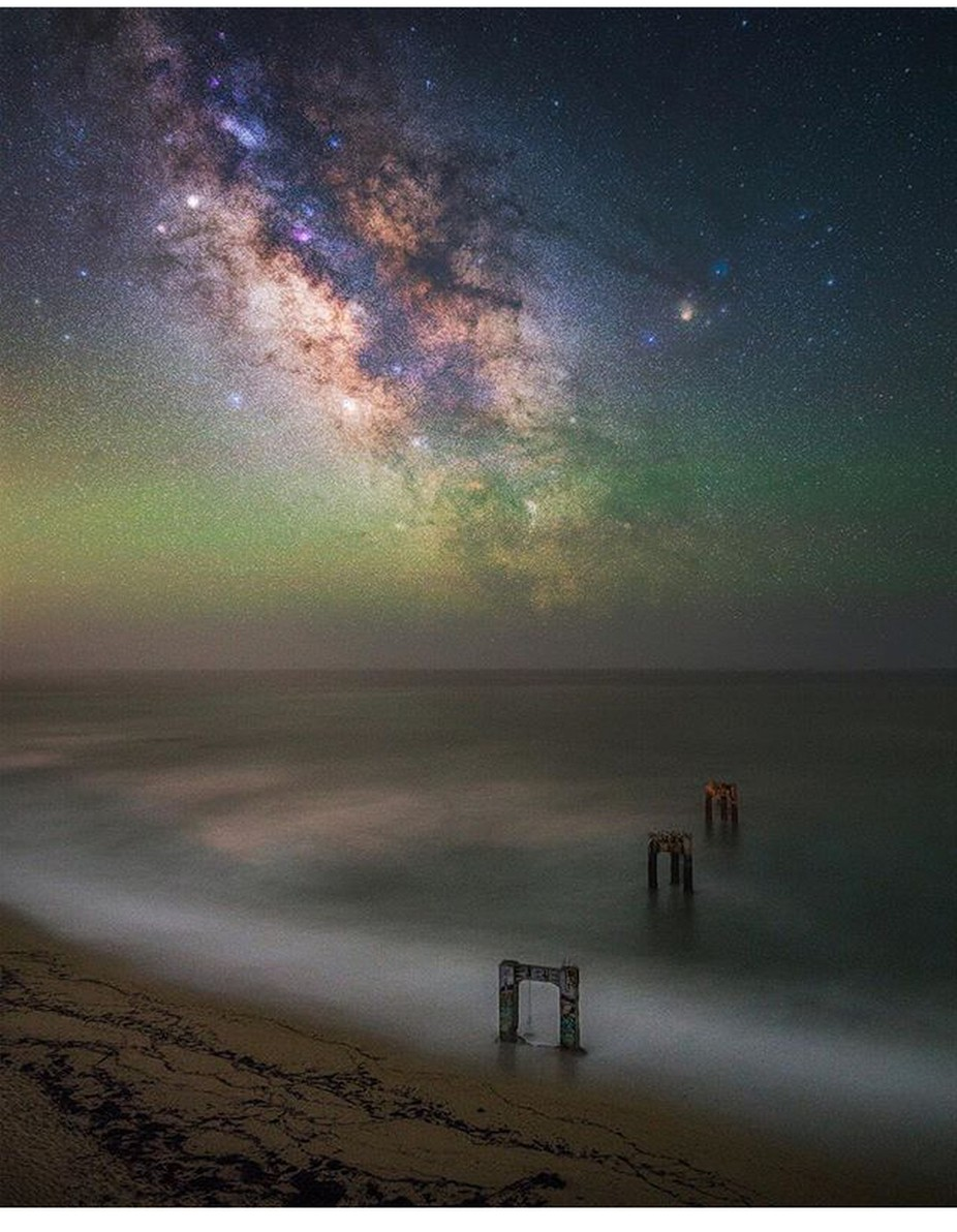 Milky way at the pier by danielbraggphotos - Capture The Milky Way Photo Contest