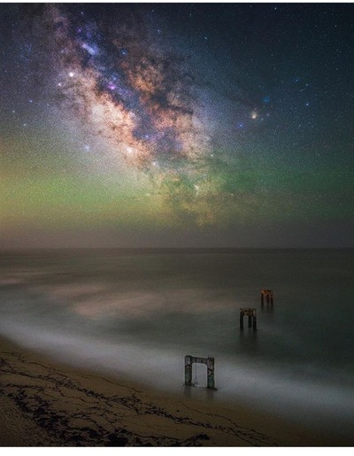 Milky way at the pier