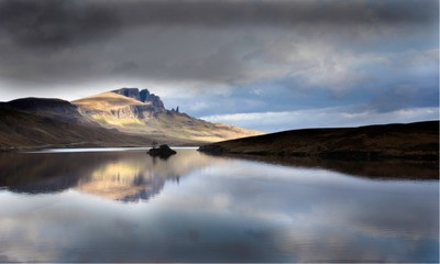 Loch Leathan reflecting The Old Man Of Storr on a changing day. I could have stood there all day watching the lights change my view every few minutes. Was awesome!