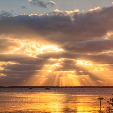 A beautiful sunrise over the NC outerbanks