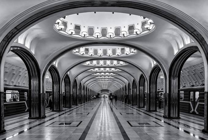 Mayakovskaya Subway Station by LuizQuene - Public Transport Hubs Photo Contest