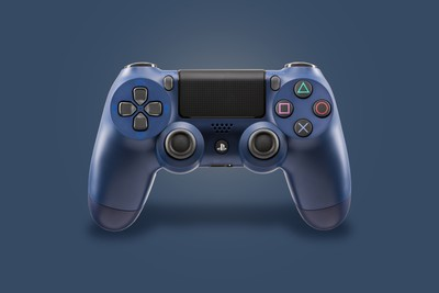 PS4 Midnight Blue Controller