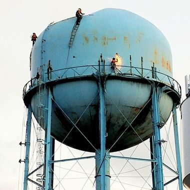Deconstruction of a water tower