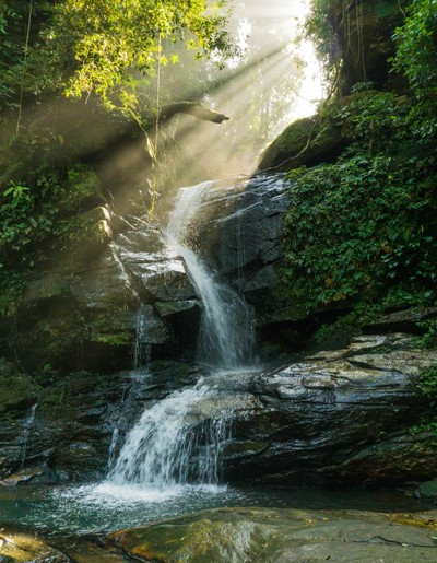 Hidden waterfall in Rio de Janeiro