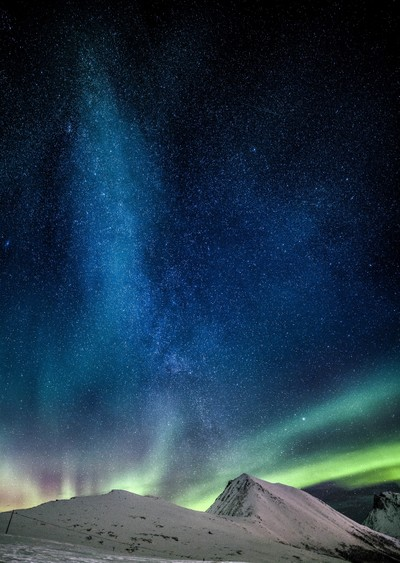 The Milky Way and the Aurora
