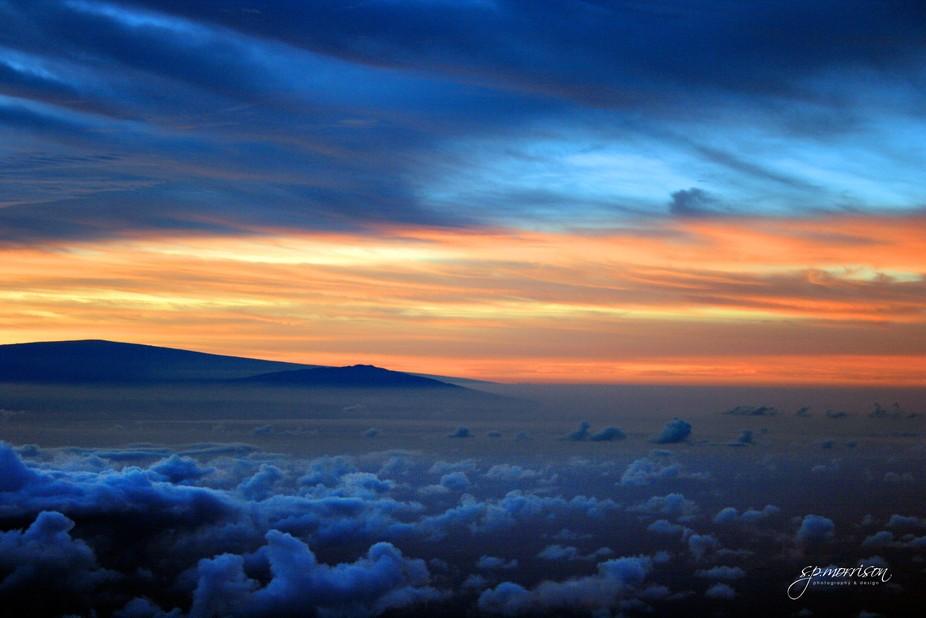Early morning on the summit of Haleakala volcano, 3055 metres (10,023 feet) above sea level, Maui.