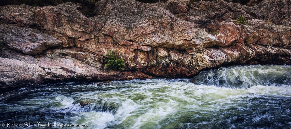 The river and Rock relationship is so reluctant. The rock is hard and strong but the river is rel...