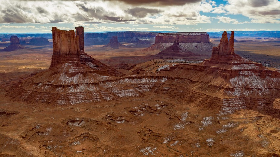 Drone shot of Monument Valley, USA