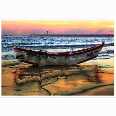 Sunrise over Durban Beach