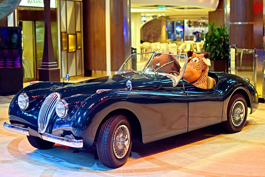 Jaguar on  Royal promenade, Harmony of the seas .