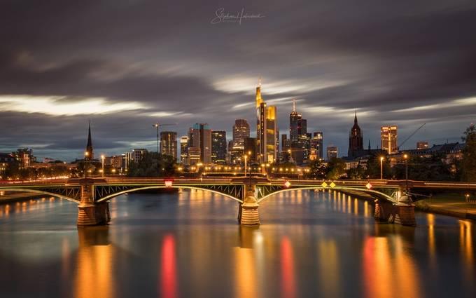 Frankfurt, Germany by StephanH - Bright City Lights Photo Contest