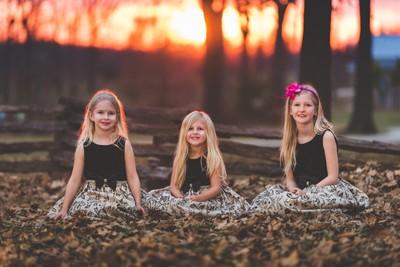 Siblings at Sunset