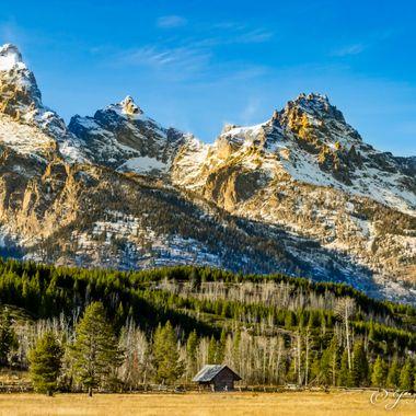 Sunny Morning At The Grand Tetons National Park
