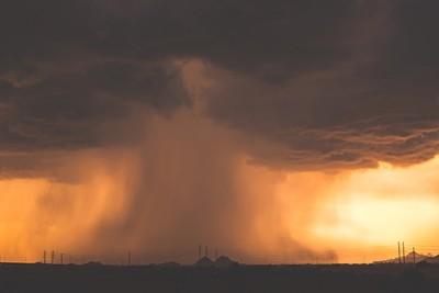 Sunset Thunderstorm over Phoenix, Arizona
