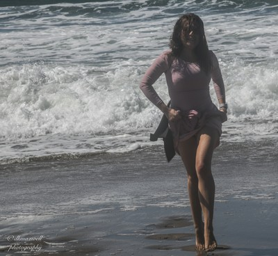 Russian Model at the beach