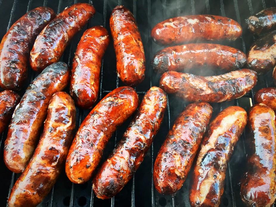 Grilling Jalapeño Sausage!!!