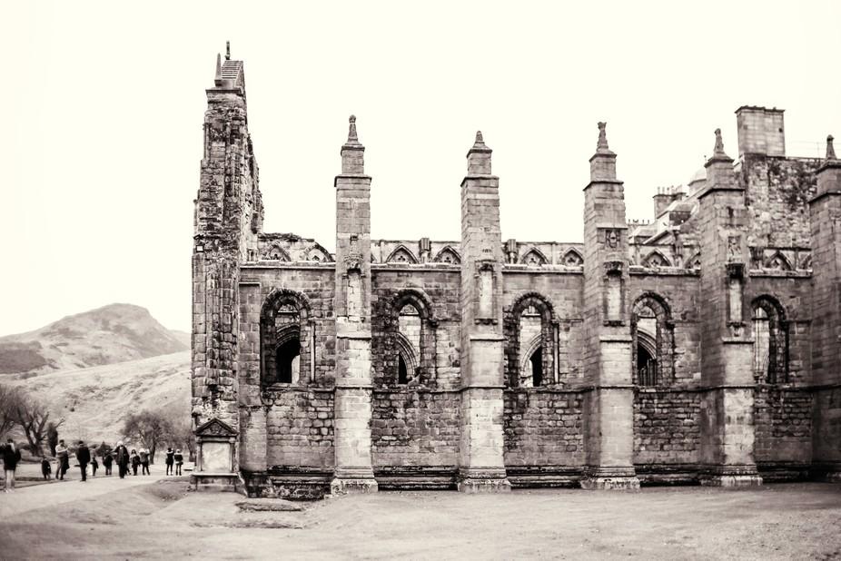 Holyrood Palace enclosed graveyard, Edinburgh Scotland 2018 St. Andrews Day