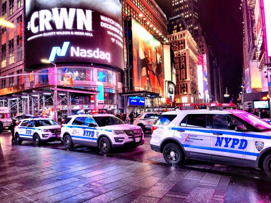 NYPD Blue. The colourful setting made for an interesting shot in Time Square.