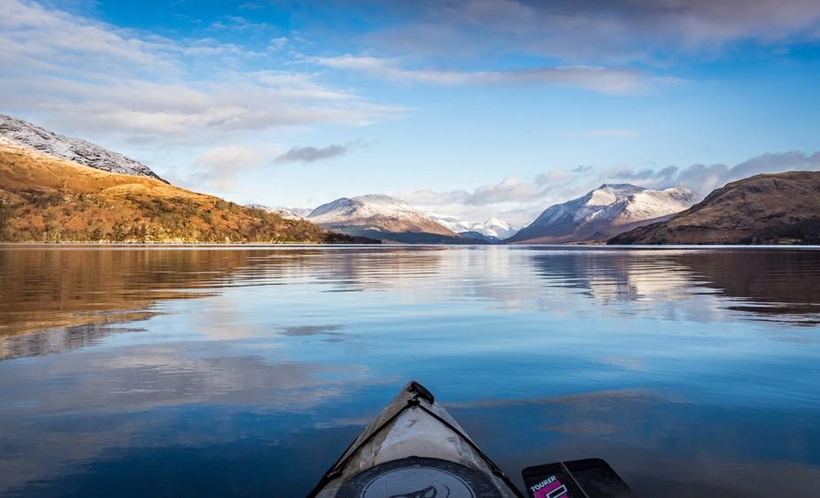 Winter Kayak, Loch Etive, Scotland