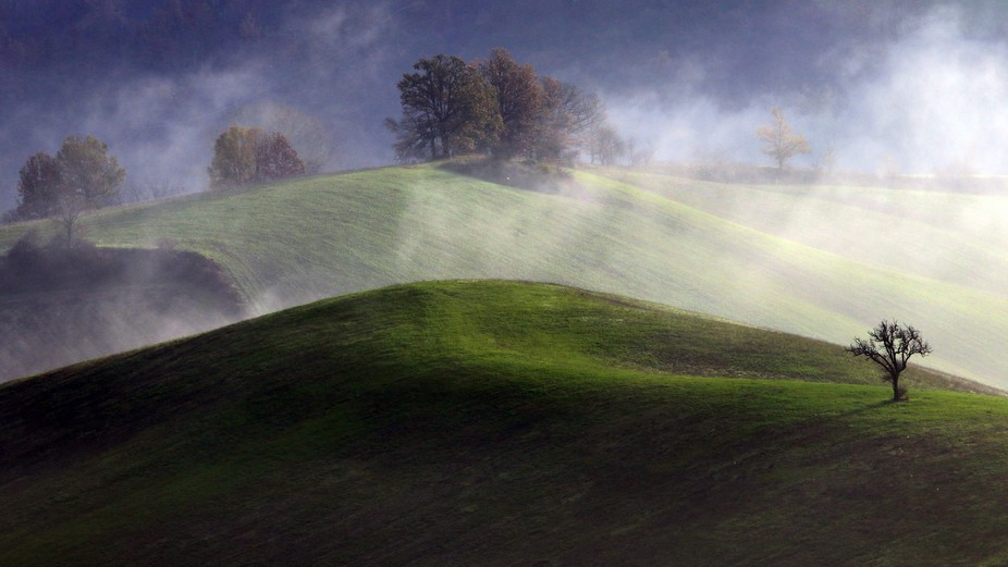 Mist (ery) in my valley.