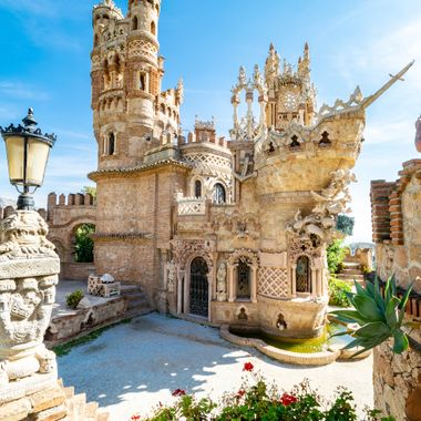 an amazing castle with beautiful marine style towers and balcony's in Benalmadena, Spain